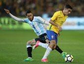 جانب من مباراة سابقة بين البرازيل والارجنتين