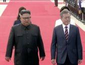 رئيس كوريا الجنوبية ونظيره الشمالى كيم جونج أون