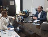 علاء العلى مع محررة اليوم السابع