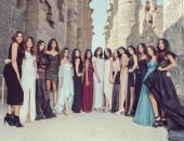متسابقات ملكة جمال مصر للكون فى معابد الأقصر
