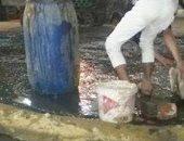 غرق قرية أبو النمرس فى مياه الصرف الصحى