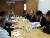 الوفد اليابانى برفقة السفير يزور مستشفى أبو الريش للأطفال