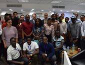 """""""اليوم السابع"""" تستقبل أمين عام الأعلى للإعلام بصحبة وفد الإعلاميين الأفارقة"""