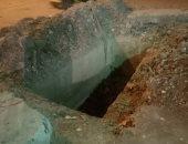 حفرة الصرف بالقرية