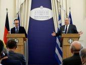 مؤتمر صحفى مشترك بين وزيرا خارجية اليونان وألمانيا