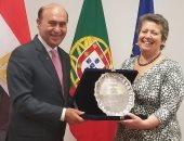 مهاب مميش مع وزيرة البحار البرتغالية