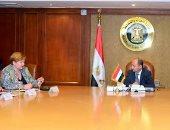 اجتماع وزير التجارة مع  نائب وزير الاقتصاد والتعاون والتنمية الألمانى