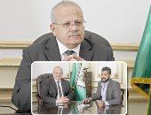 الدكتور محمد الخشت مع الزميل وائل ربيعى