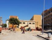 جانب من أعمال التطوير بجامعة الإسكندرية