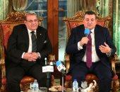 النائب أسامة هيكل مع د.حسن راتب