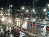 غرق شارع النصر فى مياه الصرف الصحى