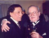 سمير خفاجى مع الفنان عادل إمام