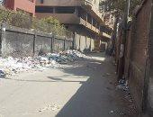 انتشار القمامة خلف سور مدرسه السيده نفيسة بشبرا الخيمة
