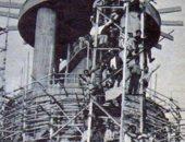 برج القاهرة فى مراحل الإنشاءالأولى