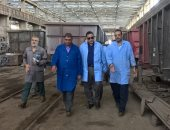 المهندس أشرف رسلان رئيس هيئة السكة الحديد خلال جولته