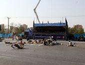 جانب من الهجوم على الحرس الثورى الإيرانى