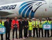 انطلاق أول رحلة طائرة لمصر للطيران بعد تحويلها من طائرة ركاب لشحن جوي