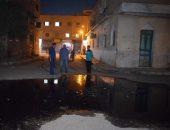 حى راشد بسوهاج يغرق فى مياه الصرف الصحى
