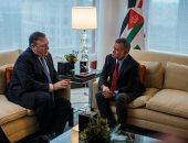 العاهل الأردنى الملك عبد الله الثانى يلتقى وزير خارجية أمريكا