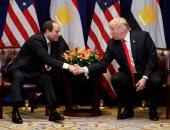 الرئيس عبد الفتاح السيسى ونظيره الأمريكى دونالد ترامب