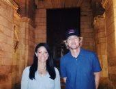 وزيرة السياحة مع أوين ويلسون
