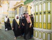 الملك سلمان يزور المسجد النبوى