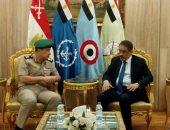 ضياء رشوان يلتقى مدير كلية الدفاع الوطني أكاديمية ناصر العسكرية