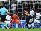 جانب من مباراة سابقة بين برشلونة وتوتنهام