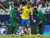 جانب من مباراة البرازيل والسعودية