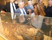 رئيس جمهورية تتارستان فى المتحف المصرى بالتحرير