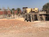 توقف أعمال بناء مدرسة نجع خباطة بسوهاج