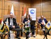 غادة والى وزيرة التضامن الاجتماعى خلال منتدى مستقبل وطن