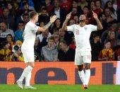 احتفال نجوم المنتخب الإنجليزى