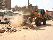 رفع مخلفات الهدم من شوارع القاهرة