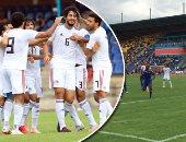 لاعبو منتخب مصر وفرحة الهدف الأول لأحمد حجازى