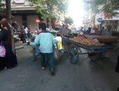انتشار الباعة الجائلين وسط الإسكندرية