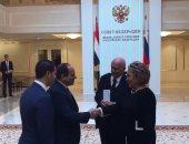 الرئيس عبد الفتاح السيسى مع رئيسة المجلس الفيدرالى الروسى