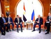 الرئيس عبد الفتاح السيسي رئيس الجمهورية والرئيس الروسى فلاديمير بوتين