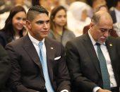 رجل الأعمال أحمد أبو هشيمة خلال حفل ختام منتدي مستقبل وطن