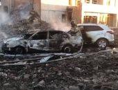الآثار المدمرة انفجار مصنع ألعاب نارية بروسيا