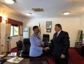 سفير مصر فى أوغندا والسيدة الاولى  جانيت موسيفيني