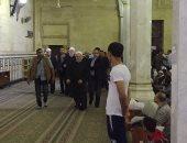 الدكتور شوقي علام  مفتي الديار المصرية اثناء الوصول
