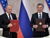بوتين والرئيس الأوزبكستانى شوكت ميرزيايف