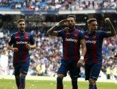 فرحة لاعبو ليفانتي بالتفوق على ريال مدريد