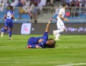 """النجم الإماراتى عمر عبد الرحمن """"عموري"""" لحظة الاصابة"""