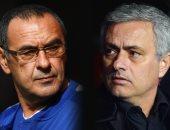 مورينيو وسارى مدربا مانشستر يونايتد وتشيلسي