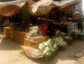 الباعة الجائلين وفرش بضائعهم فى شوارع شبرا الخيمة