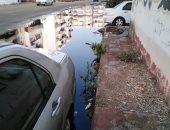 غرق شوارع المنطقة بمياه الصرف الصحى