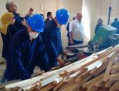 المساجين أثناء العمل فى ورش سجن المزرعة