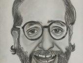 الفنان أحمد أمين إحدى رسومات الموهبة